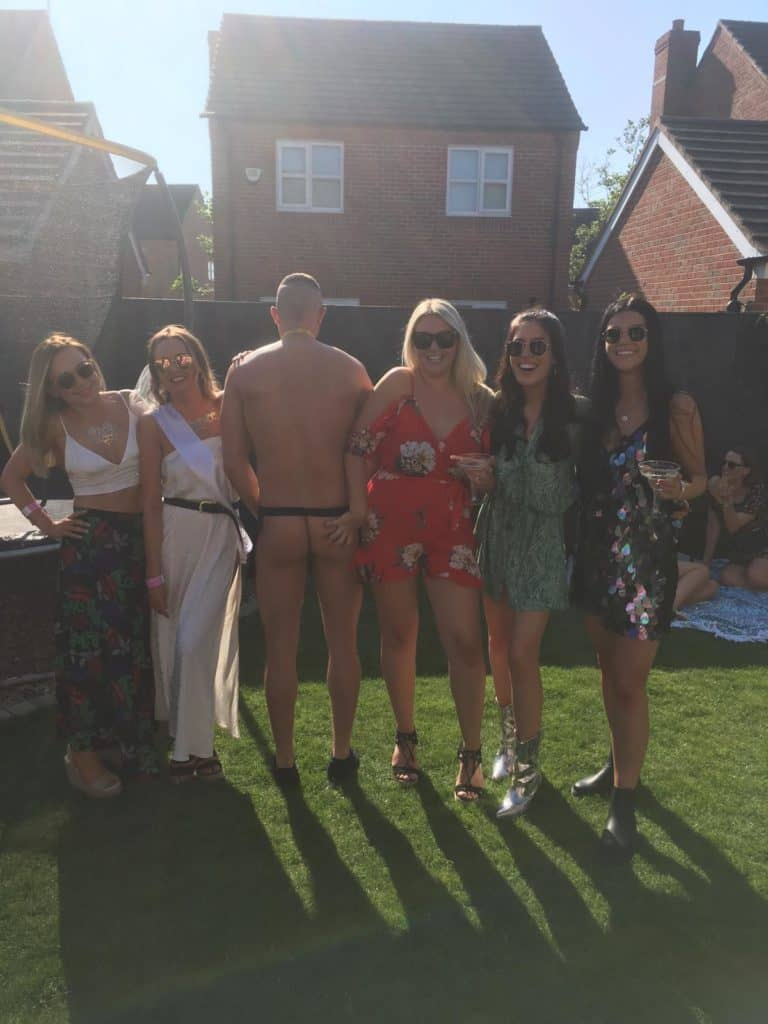 Hen party ideas with a Naked Butler