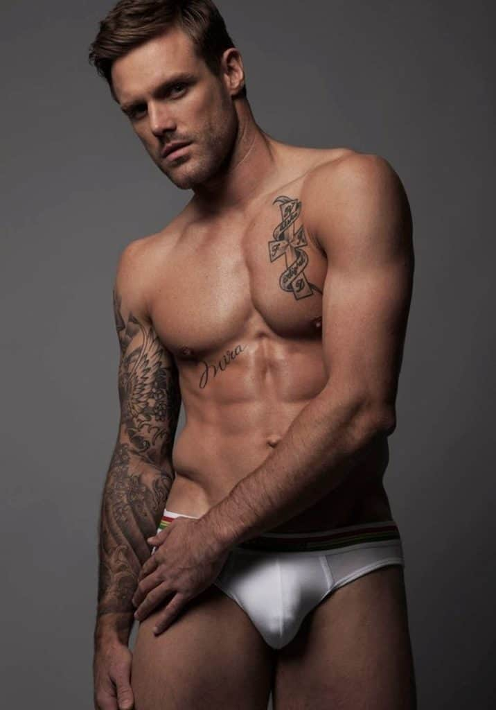 4. When Rugby Player Turned Model, Nick Youngquest Posed In His Undercrackers...
