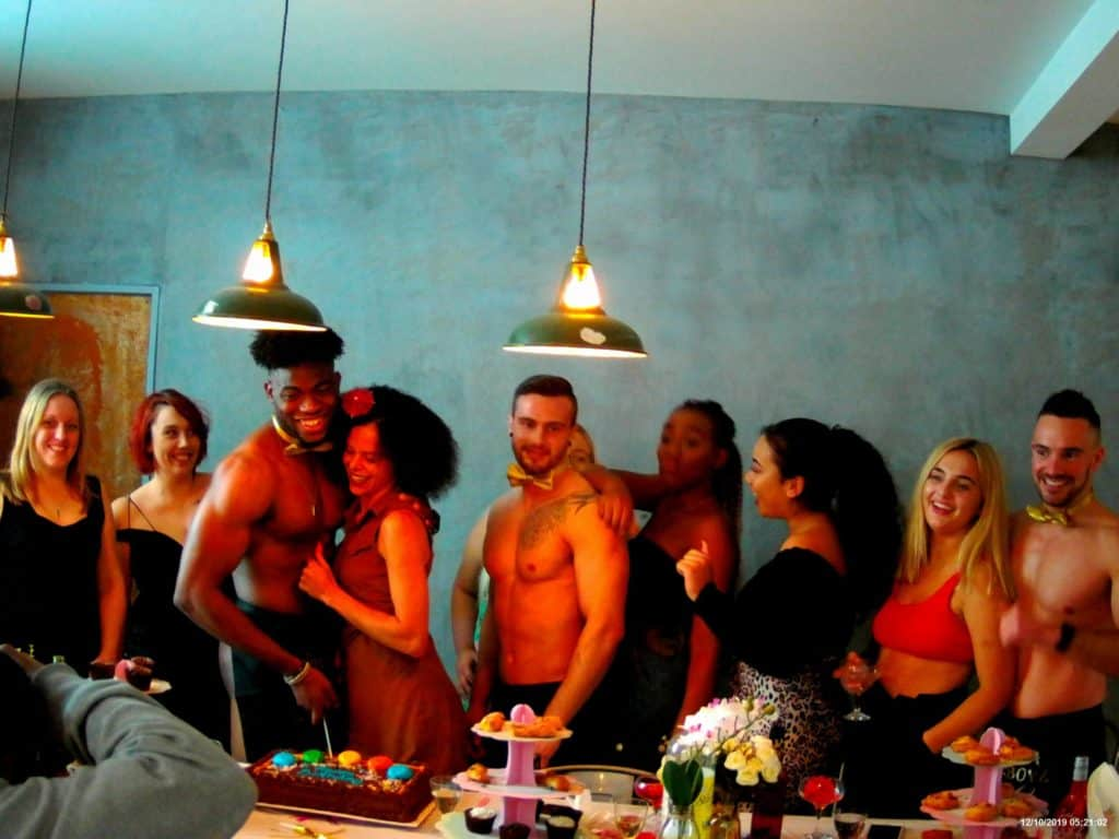buff waiters at a birthday party anniversary