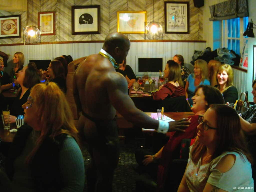 Buff Butlers at a ladies night charity event